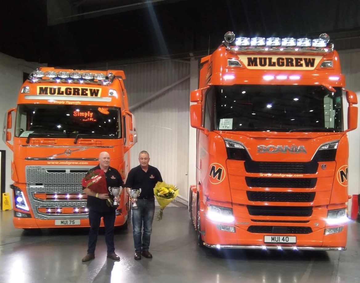 Mulgrew Haulage win Awards at Expro Truck Show Telford